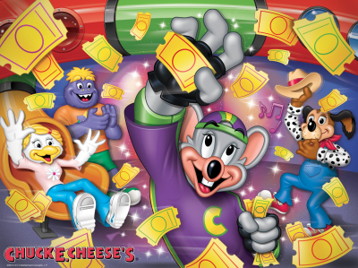 Chuck E. Cheese's Lenticular Placemat